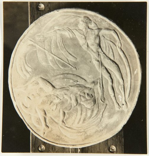 An image of Image of medallion of Apollo destroying Icarus by Eleonore Lange by