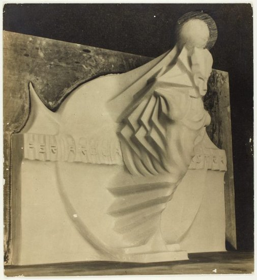 An image of Image of plaster maquette for 'Seraph of light' by Eleonore Lange, a proposed memorial to Walter Duffield by