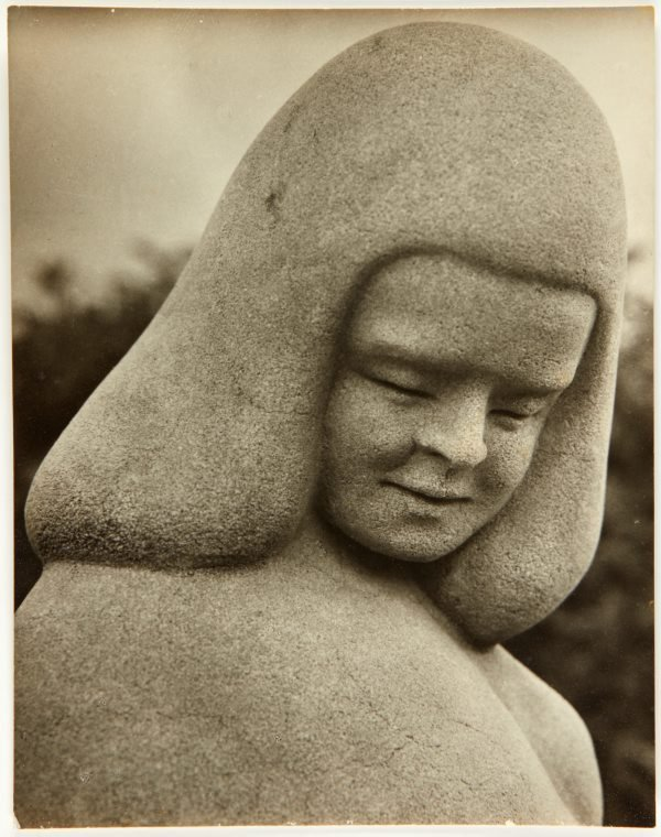 An image of Image of a detail from 'Stargold birdbath' 1940 by Eleonore Lange