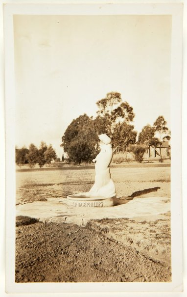 An image of Image of the 'Stargold birdbath' in the grounds of the Special School, Glenfield by Eleonore Lange