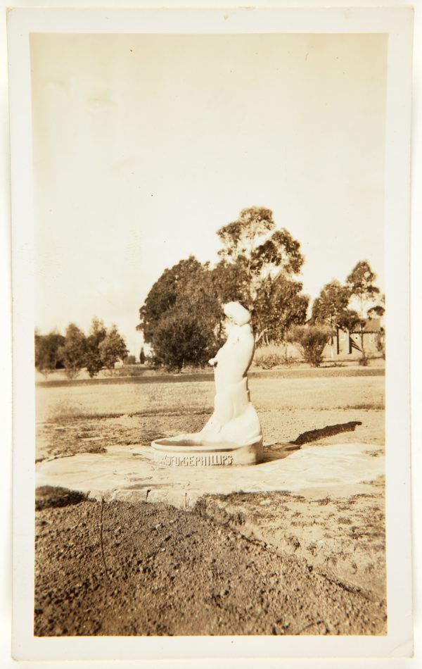 An image of Image of the 'Stargold birdbath' in the grounds of the Special School, Glenfield