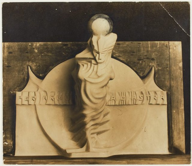 An image of Image of plaster maquette for 'Seraph of light' by Eleonore Lange, a proposed memorial to Walter Duffield