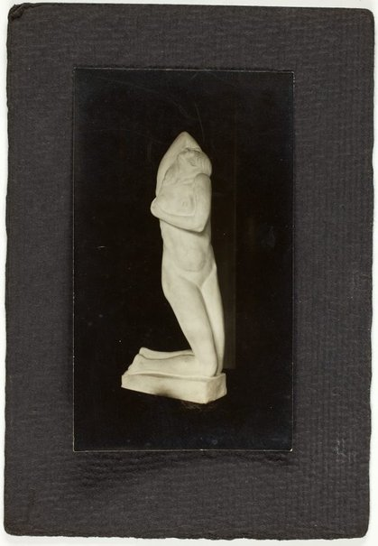 An image of Image of sculpture of kneeling nude woman by Eleonore Lange by Eleonore Lange