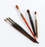 Alternate image of Weaver Hawkins' watercolour brushes by Unknown