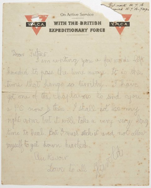 An image of Letter from Weaver Hawkins to his father by Weaver Hawkins