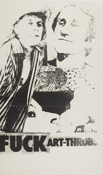 An image of Fuck art-throbs by Pat Larter, Richard Larter