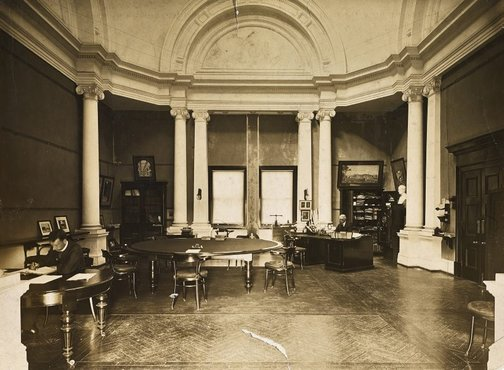 An image of Historical interior view of the boardroom and Director's office of the National Art Gallery of New South Wales by G.V.F. Mann
