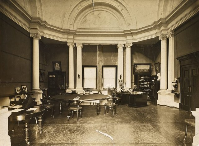 An image of Historical interior view of the boardroom and Director's office of the National Art Gallery of New South Wales