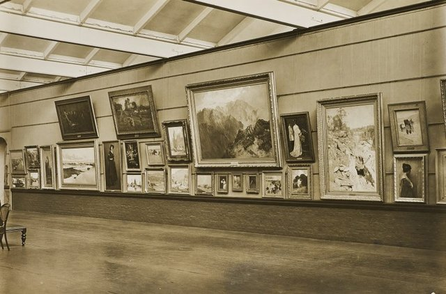 An image of Historical interior view of court 3 of the National Art Gallery of New South Wales