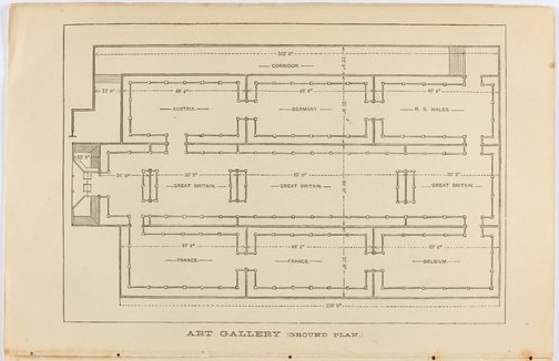 An image of Architectural floor plan of the Fine Arts Annexe to the Sydney International exhibition by Unknown