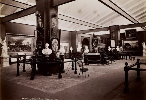 An image of Historical interior view of court 3 of the National Art Gallery of New South Wales by Henry King