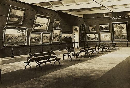An image of Historical interior view of court 3 of the National Art Gallery of New South Wales by Unknown