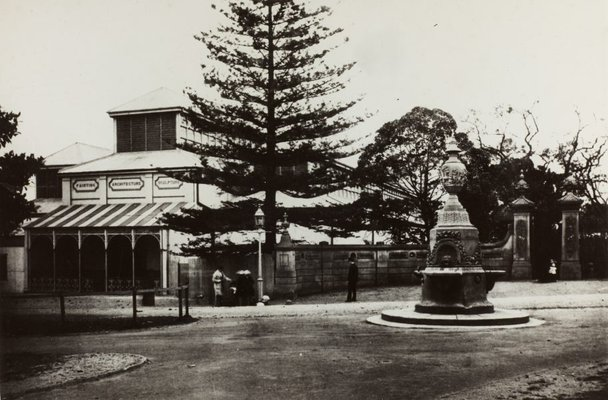 Alternate image of Historical exterior view of the now demolished original Art Gallery of New South Wales in the Botanic Gardens by Unknown