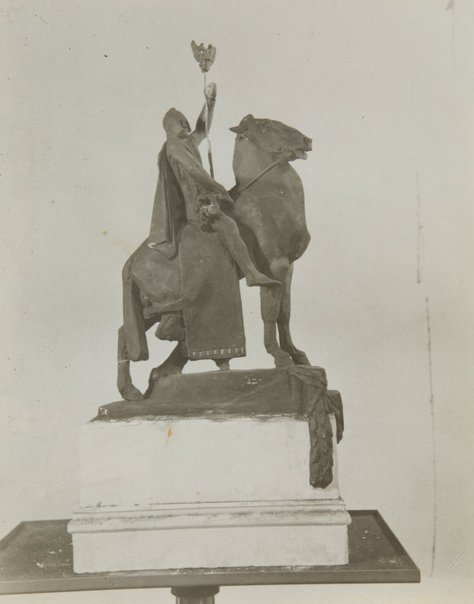 An image of Image of the small plaster cast of 'The offerings of War' by Gilbert Bayes by Unknown