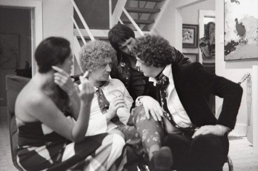 An image of Brett Whiteley with friends at Sandra McGrath's house by Robert Walker