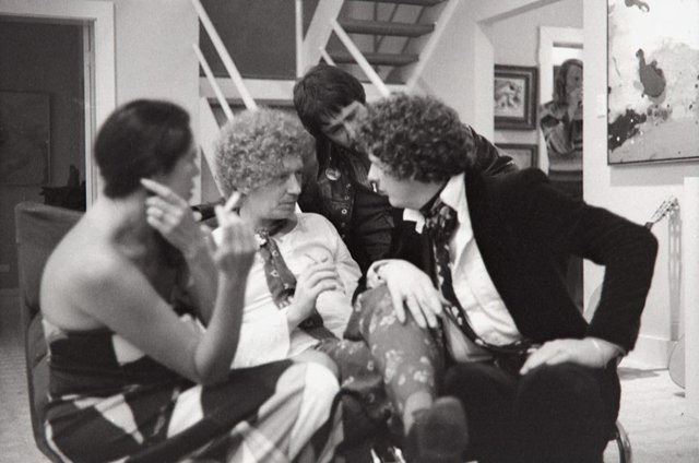 An image of Brett Whiteley with friends at Sandra McGrath's house