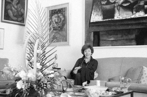 An image of Judy Cassab at home by Robert Walker