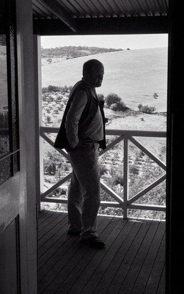 An image of John Olsen at Clarendon, South Australia by Robert Walker