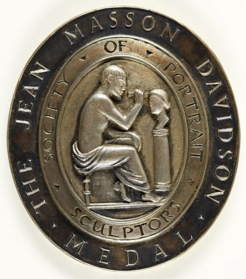 An image of The Jean Masson Davidson Medal of the Society of Sculptors by Unknown