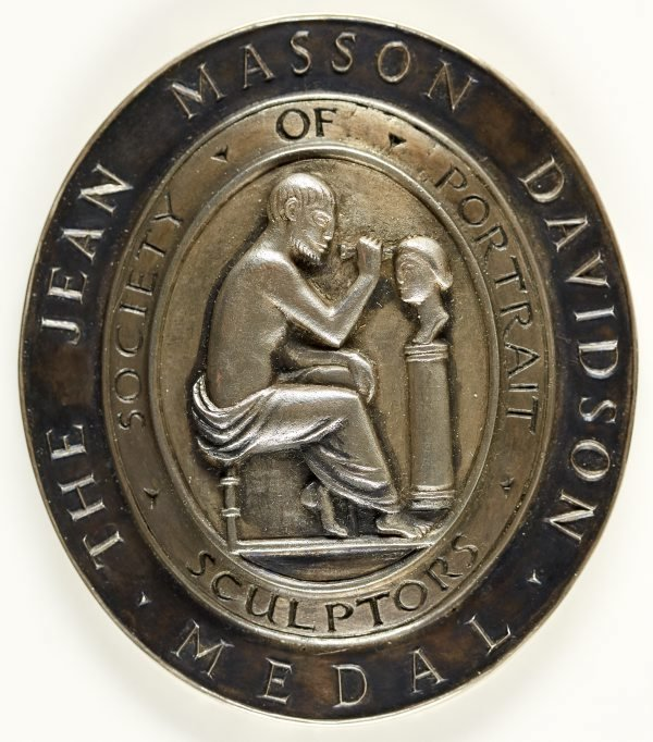 An image of The Jean Masson Davidson Medal of the Society of Sculptors