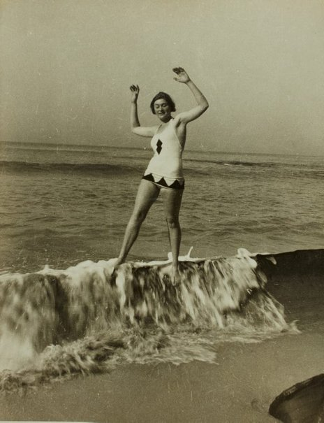 An image of Barbara Tribe on the rocks at Ben Buckler, Bondi by Unknown