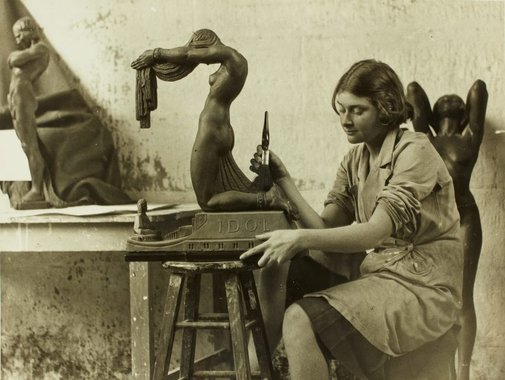 An image of Barbara Tribe working on 'Idol' 1931 by World Photographer