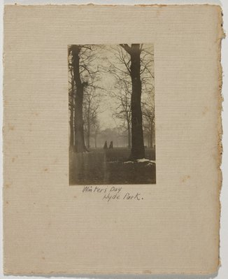 Alternate image of Winter's Day Hyde Park by Cecil Bostock