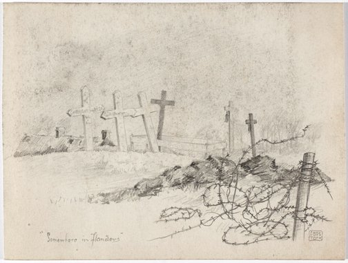 An image of Somewhere in Flanders by Cecil Bostock
