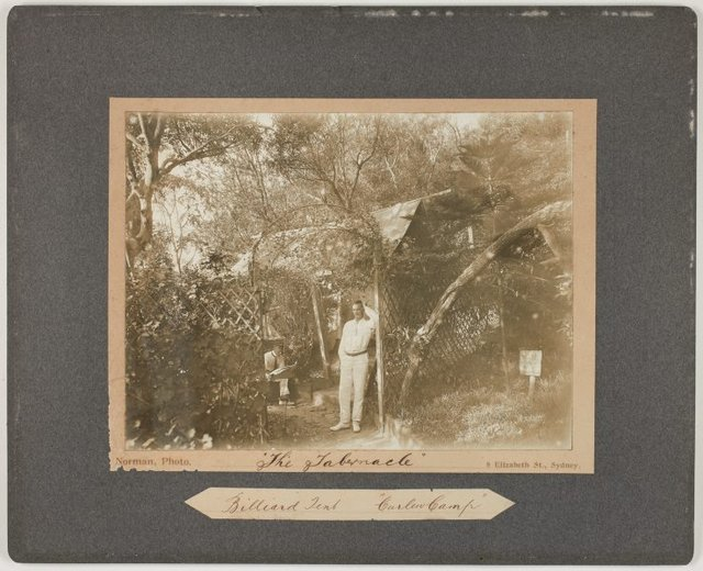An image of 'The Tabernacle' Billiard Tent at the Curlew Camp, Sydney
