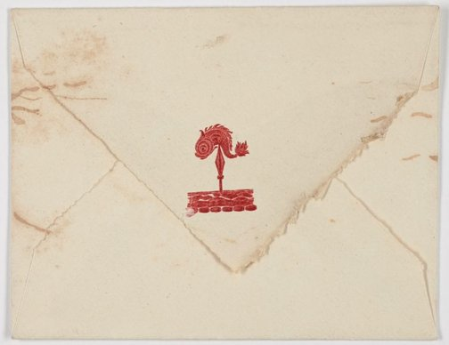 An image of Embossed envelope for the Curlew Camp by Frederick Lane