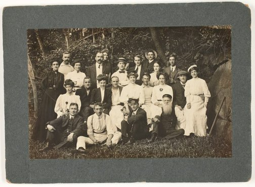 An image of Group portrait, Curlew Camp by Unknown