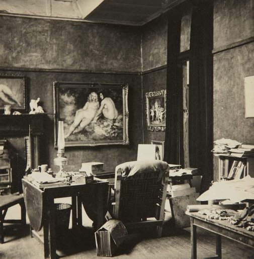 An image of The studio of Norman Lindsay by Unknown