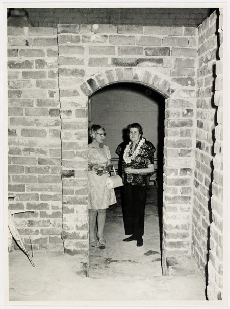 An image of Esther Missingham and Sheila McDonald at Sheila McDonald's party, Woolloomooloo by Hal Missingham
