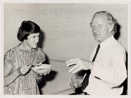 An image of Margaret Tuckson and Tony Tuckson at Sheila McDonald's party, Woolloomooloo by Hal Missingham