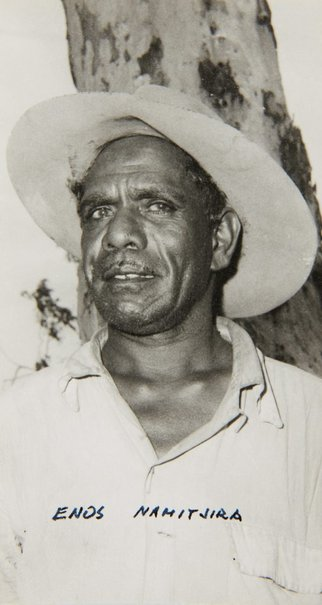 An image of Portrait of Enos Namatjira by Unknown