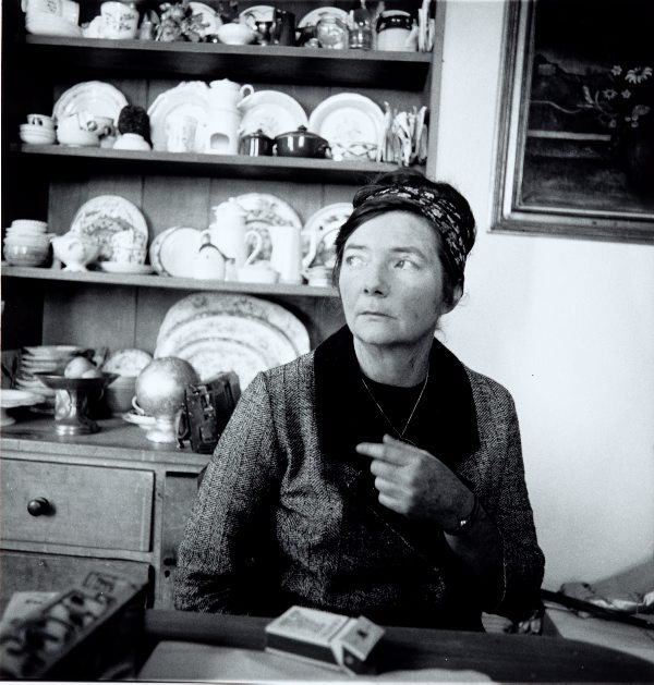 An image of Margaret Olley in the kitchen of David Strachan's terrace, Sydney