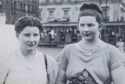 An image of Margaret Olley and Margaret Cilento at McMahons Point, Sydney by Unknown