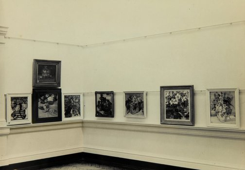 An image of Installation view of William Dobell works in the 'Margaret Preston and William Dobell loan exhibition', 1942, National Art Gallery of New South Wales by Unknown