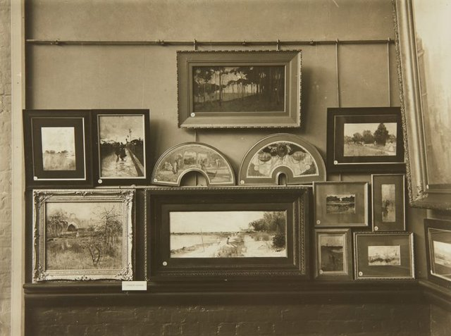 An image of Installation view showing Charles Conder's works in the 'Loan Exhibition of Australian Art'