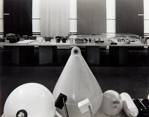 An image of Installation view of the exhibition 'Design in Scandinavia', 1968, Art Gallery of New South Wales by Max Dupain