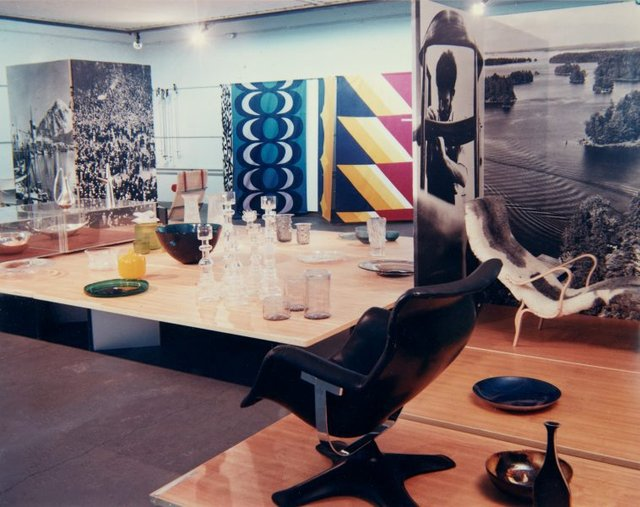 An image of Installation view of the exhibition 'Design in Scandinavia', 1968, Art Gallery of New South Wales