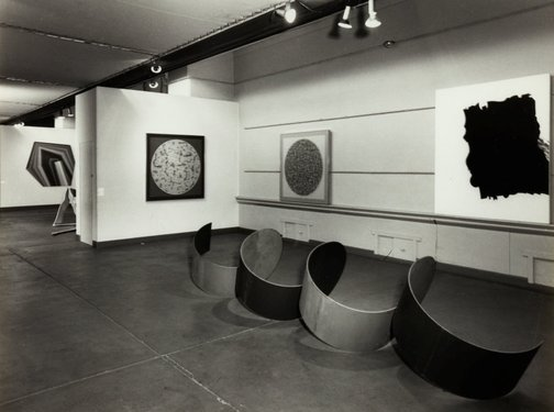 An image of Installation view of the exhibition 'The field', 1968, Art Gallery of New South Wales by New South Wales Government Printing Office