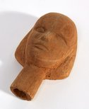 Alternate image of Carved wooden head of a woman by Margel Hinder