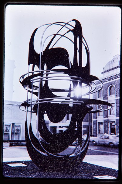 An image of Adelaide sculpture 1972 by Margel Hinder in Waymouth Street, Adelaide by Unknown