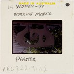 Alternate image of Plaster working model for Woden sculpture by Margel Hinder in the garden by Unknown