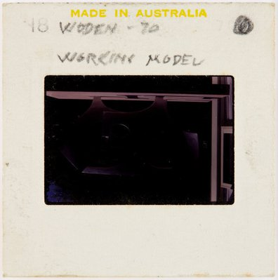 Alternate image of Working model for Woden sculpture by Margel Hinder in the garden by Unknown