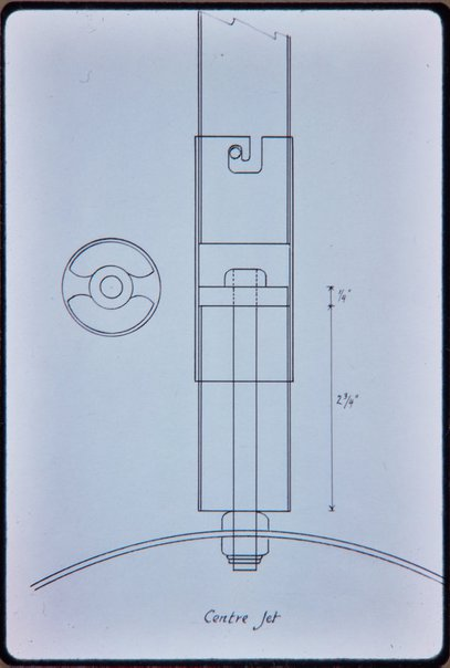 An image of Drawing of centre jet of ''Northpoint fountain' 1975 by Margel Hinder by Unknown