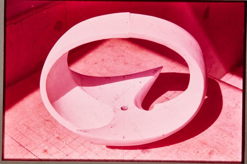 An image of Plaster outer component of model for ''Northpoint fountain' 1975 by Margel Hinder by Unknown
