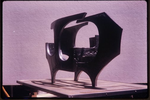 An image of Maquette for 'Sculptural form' 1969 by Margel Hinder by Unknown