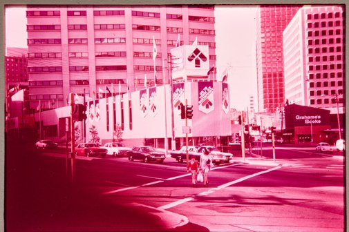 An image of Northpoint shopping centre, north Sydney, site of 'Northpoint fountain' 1975 by Margel Hinder by Unknown
